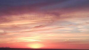 Una sera, al tramonto